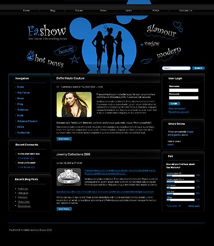Fashow Drupal Drupal Templates by Delta