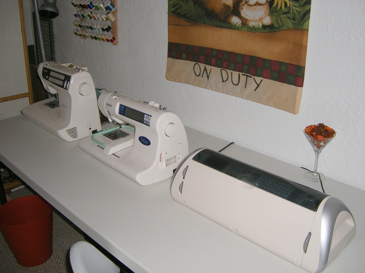 17 Best Images About Embroidery Machine Sewing Room Ideas