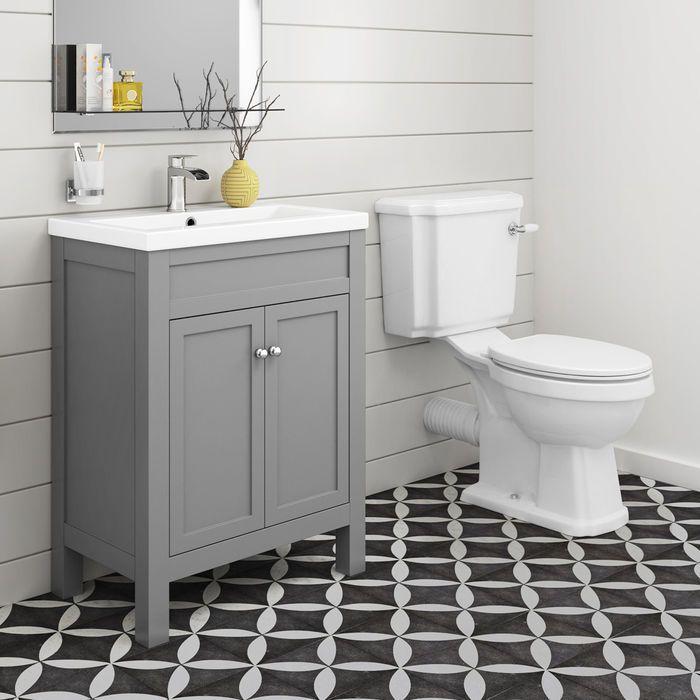 Cambridge Toilet 600mm Melbourne Floor Standing Vanity Unit