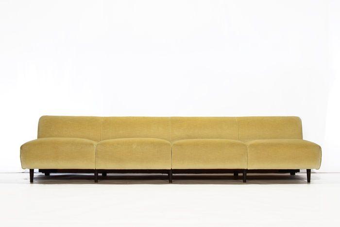 Hollywood Regency Stijl - 4 zits fluwelen sofa