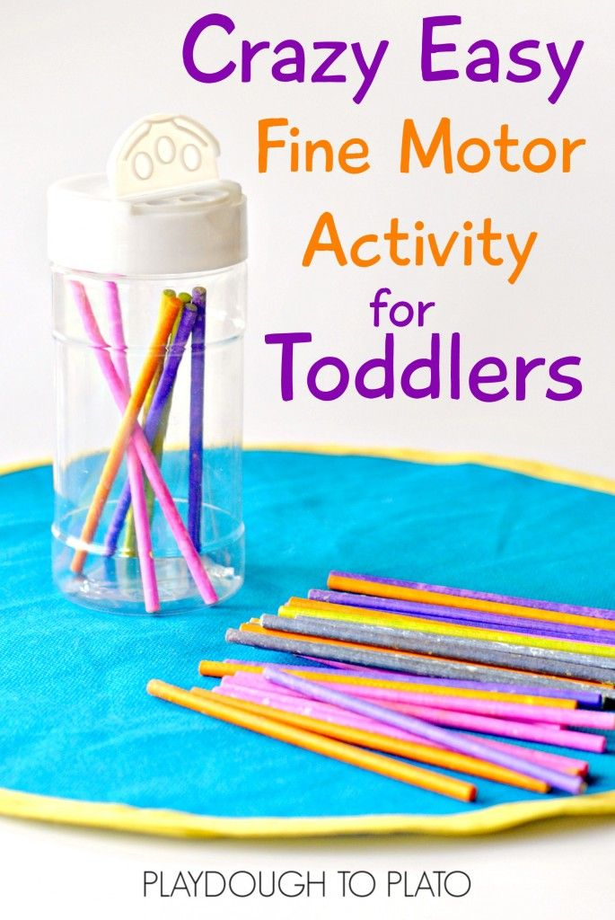 This fine motor activity is designed just for little toddler fingers, and it's crazy easy to set up, too! Great busy bag or toddler activity to take on the go.