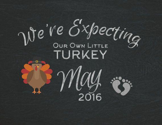Thanksgiving Pregnancy Announcement: social media by DesignAntics