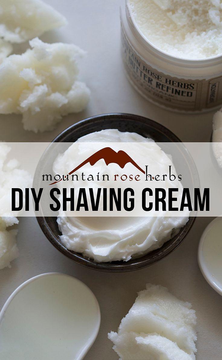 Homemade Shaving Cream Recipe from Mountain Rose Herbs