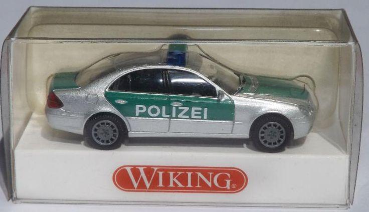 "Wiking H0 Modell Mercedes Benz E-Klasse ""Polizei"" in OVP"