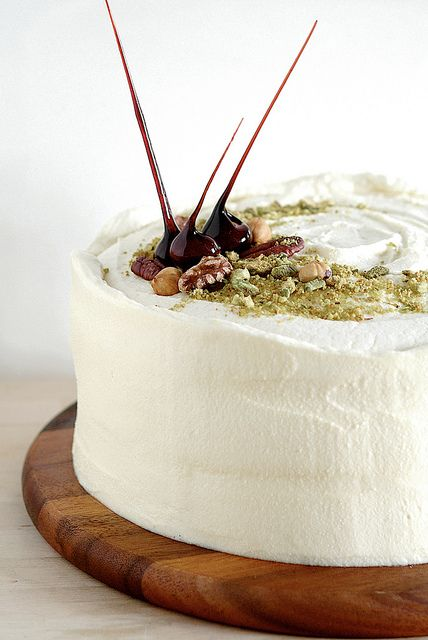 Carrot cake with maple creme cheese frosting.