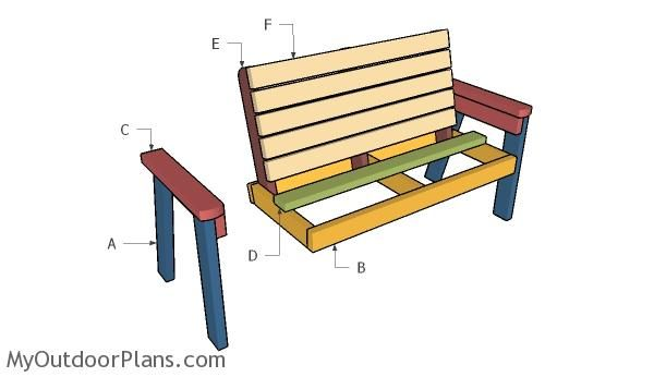 113 Best Images About Free Garden Bench Plans On Pinterest