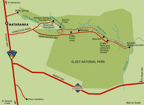 Mataranka Springs Map