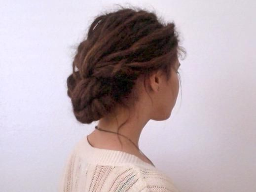 Braid and tuck dread style for special occasions