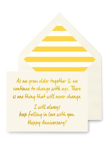 Ben's Papers | As We Grow Older Anniversary Greeting Card, Single Folded Card or Boxed Set of 8