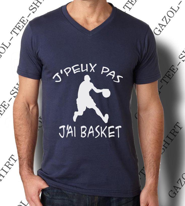 "Tee-shirt ""J'peux pas. J'ai basket."" : Tshirts, polos par gazol-tee-shirt"