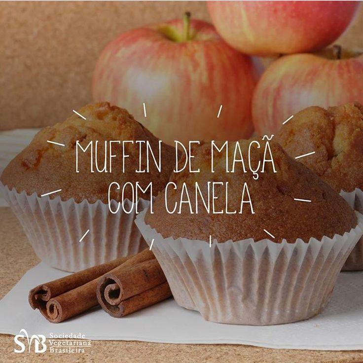 Receita de Muffin de Maçã sem glúten, sem leite e lactose, sem ovo e vegano! Rápido, nutritivo e saboroso!