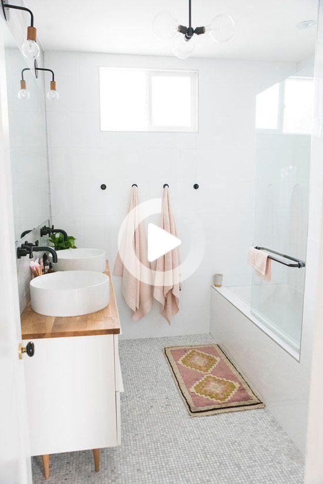 13 Ideas De Bano Encimera De Madera Vas A Querer Robar In 2020 Small Bathroom Decor Small Bathroom Inspiration Farmhouse Bathroom Decor
