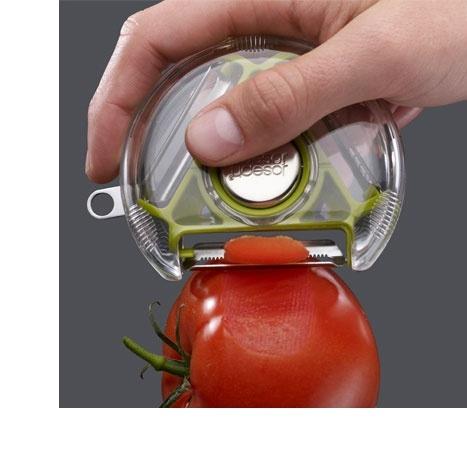 Joseph Joseph   rotary peeler, vegetable peeler, designer kitchenware, compact utensil, joseph joseph peeler, kitchen gadgets ($1-20) - Svpply