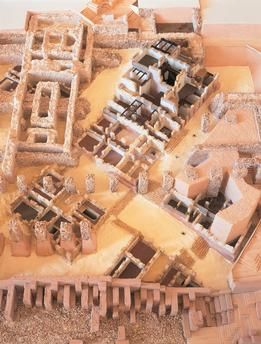 Tunisia. Plastic model of Byrsa, walled phoenician citadel in Carthage, at the time of Hannibal (3rd–2nd century b. C.)