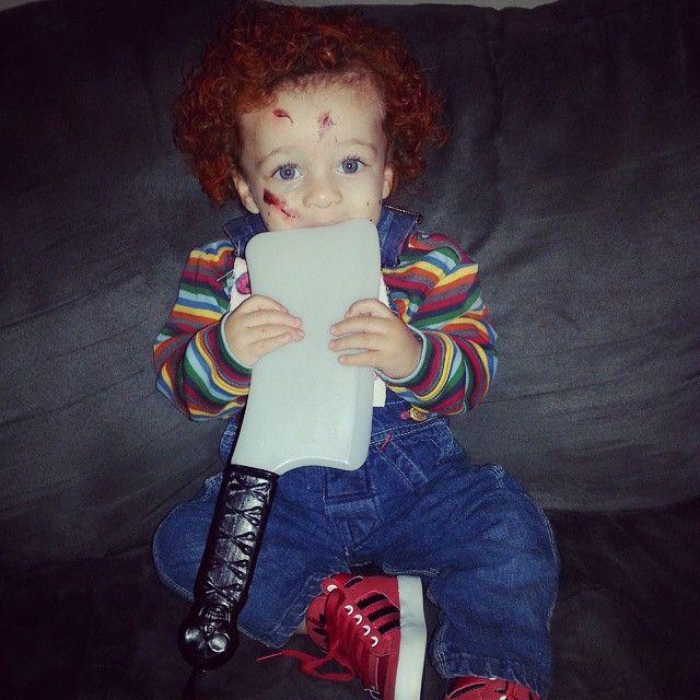 Roman as Chucky! #chucky #Halloween #toddler #costume