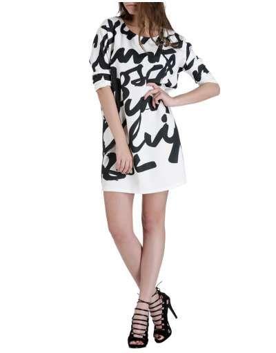ΝΕΕΣ ΑΦΙΞΕΙΣ :: Φόρεμα Straight Line Letters White - OEM