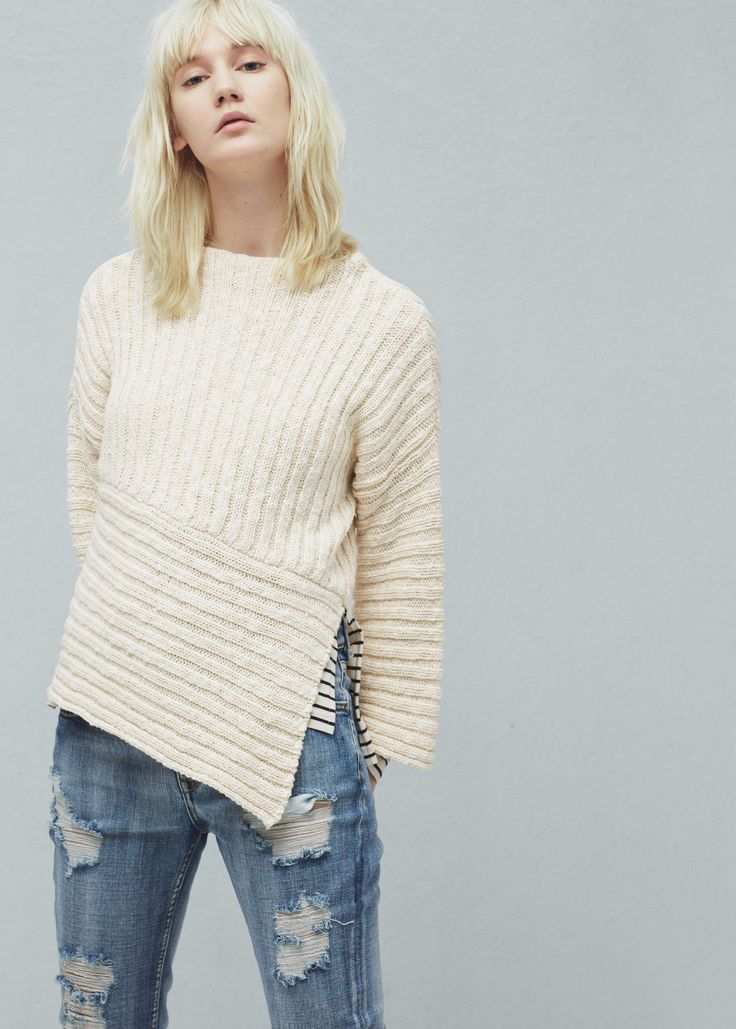 Ribbed cotton-blend sweater - Cardigans and sweaters for Women | MANGO USA