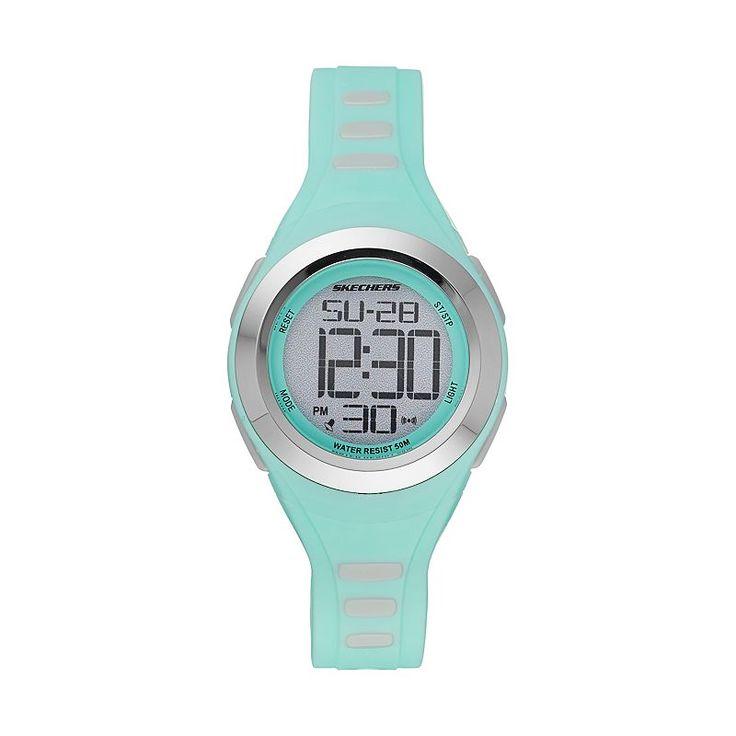 Skechers Women's Sport Digital Chronograph Watch, Green