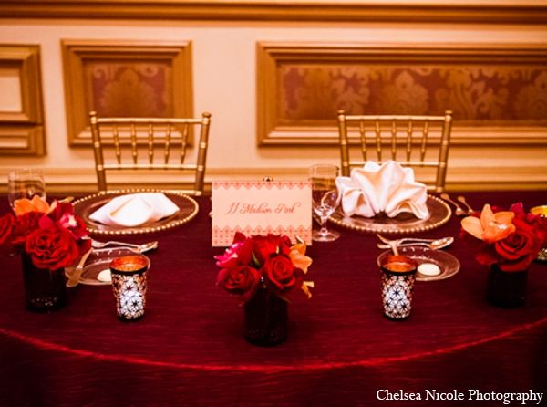 indian wedding in red and gold by chelsea nicole photography las vegas nevada sweetheart table sweetheart table decor and indian wedding decorations