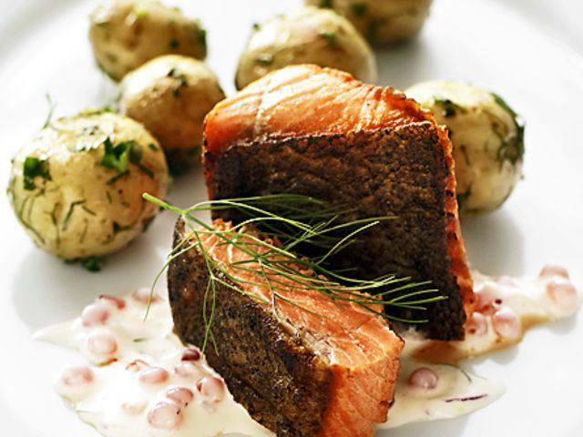 Halstrad röding med örtpotatis (kock recept.nu)
