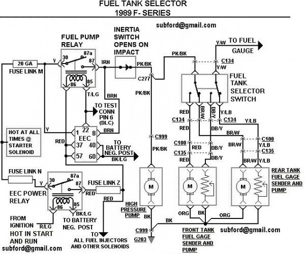 2000 F150 Fuel Pump Electrical Diagram Ford F150 Diagram