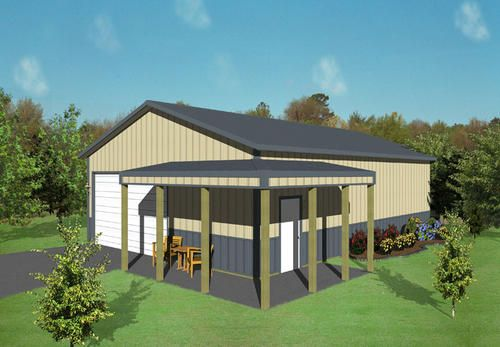 30 X 45 X 10 Agricultural With Porch At Menards Pole