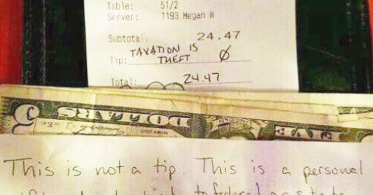 The customer's note ignited debate on Reddit.