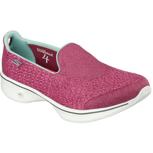 Shoes Outlet - Skechers GoWalk 4 Kindle Grey Womens Low Top Trainers