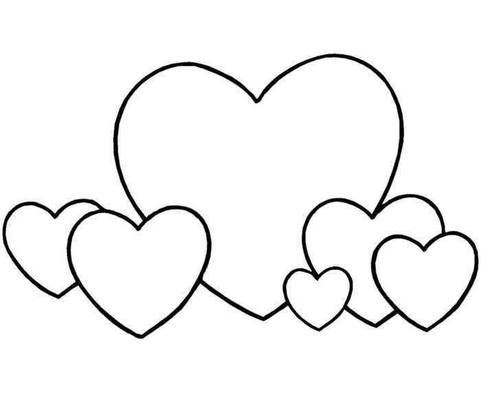Easy Heart Coloring Pages For Kids Stripe Patterns Heart Coloring Pages Coloring Pages For Kids Coloring Pages Inspirational