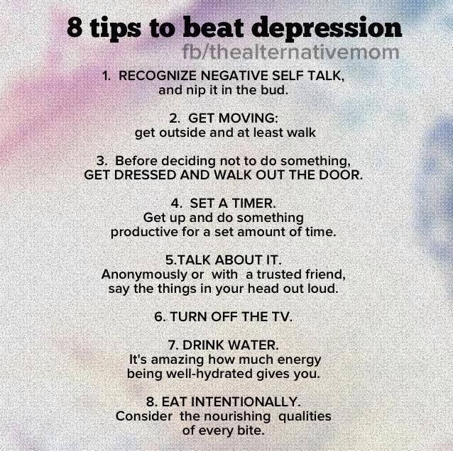 8 tips to beat depression