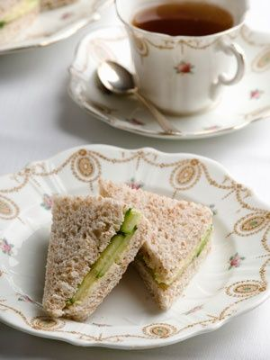 tea and sandwiches.