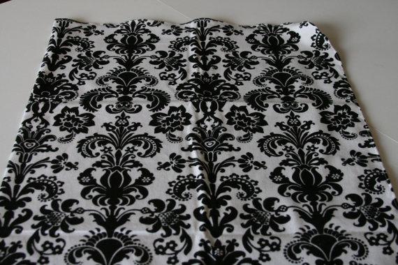 Black & White Damask Swaddle Blanket by SewKnotExpected on Etsy, $10.00Swaddle Blankets, Damasks Swaddle, White Damasks, Black White