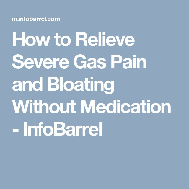 severe gas bloating