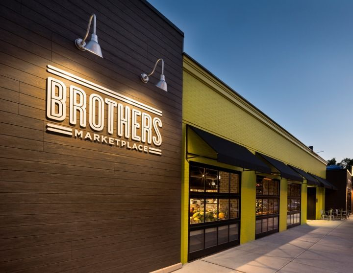 Grocery Store - Boasting an award-winning retail design, the Brothers Marketplace in Massachusetts is a grocery store experience like no other. Designed to reflect...