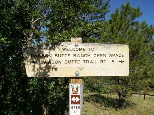 Dawson Butte Trailhead Sign