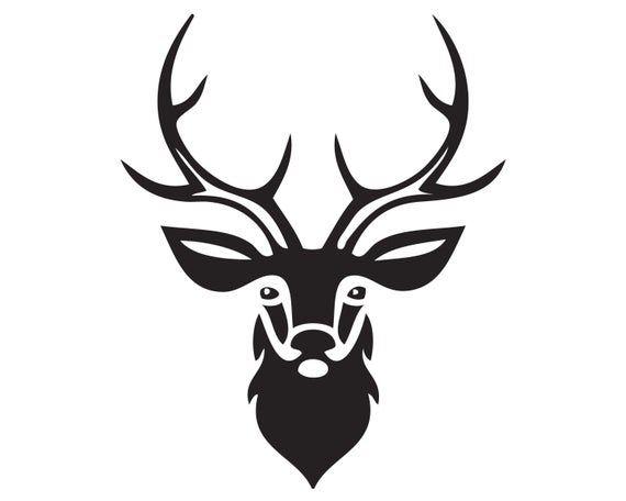 Buck Deer Reindeer Antelope Moose Hunting Head Mount Vector Etsy In 2021 Animal Symbolism Deer Deer Pictures