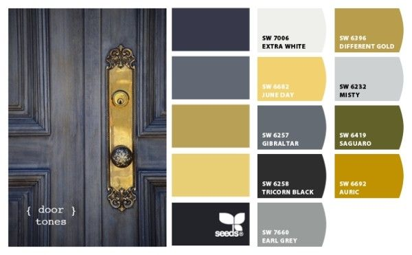 Navy, yellow, grey, black, linen, white. Yep. This is it. Gotta work with what you've got.