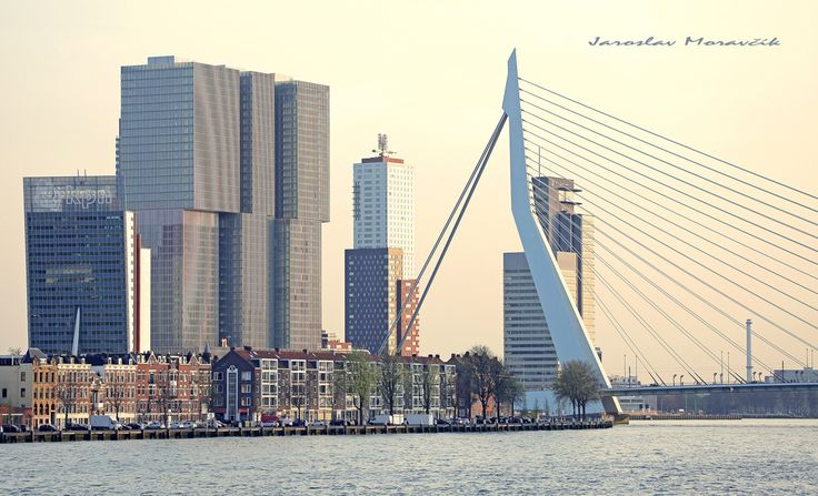 Centre of city Rotterdam, Netherlands