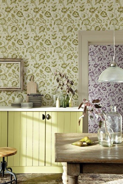 Wallpaper in kitchen designs wallpaper pinterest for Kitchen wallpaper designs
