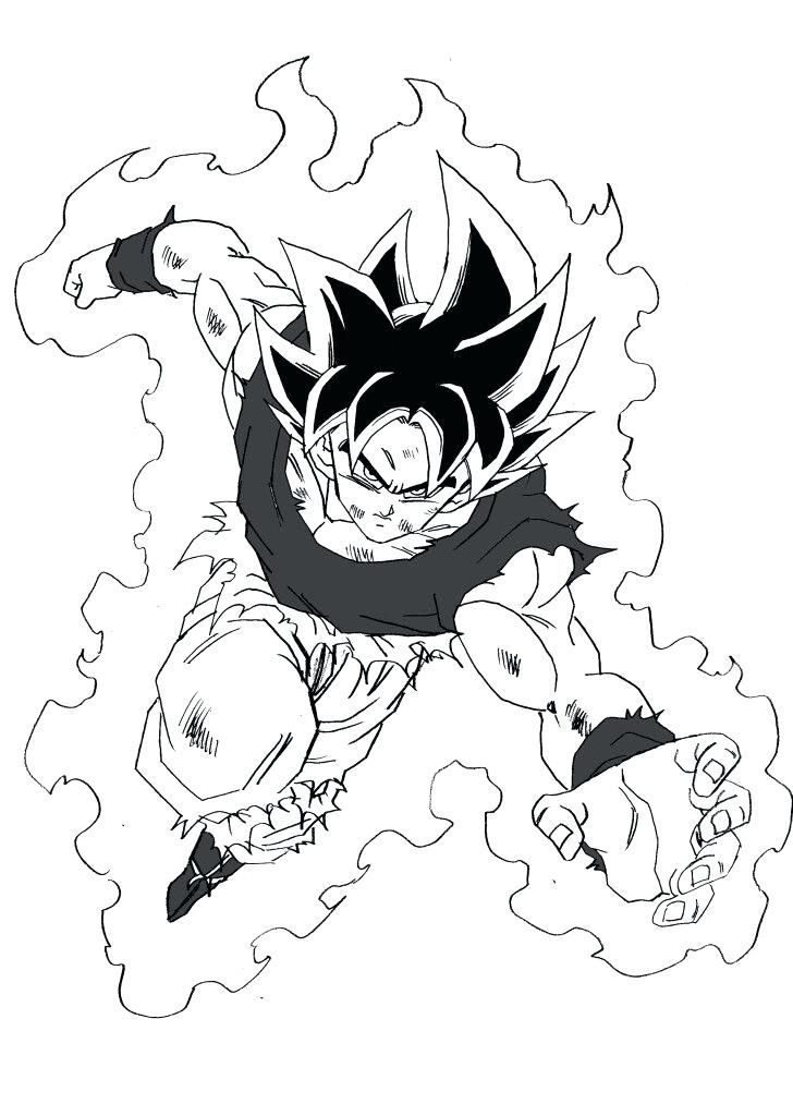 Colorear Goku Manga Dragon Ball Z Goku Super Saiyan Blue Para