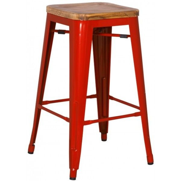 Grand Metal Counter Stool Red For The Home Pinterest