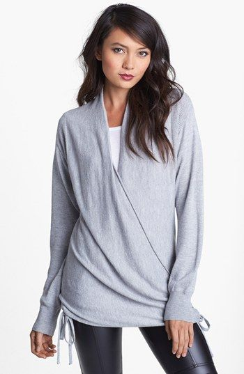 Side wrap sweater