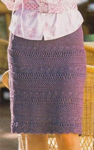crochet skirt, with pattern