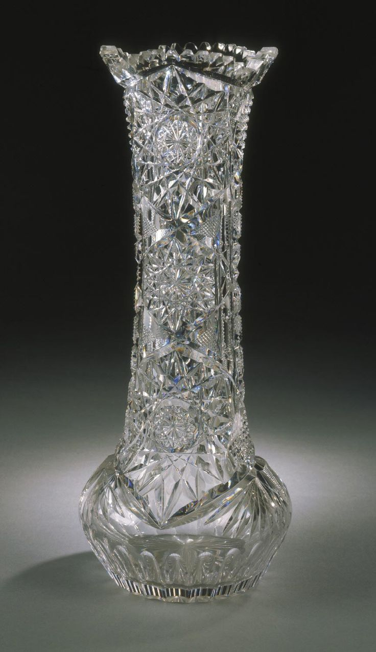 Indiana madison county markleville - Vase Made By Wright Rich Cut Glass Company Anderson Indiana 1904 1915