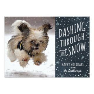 cute dog christmas card