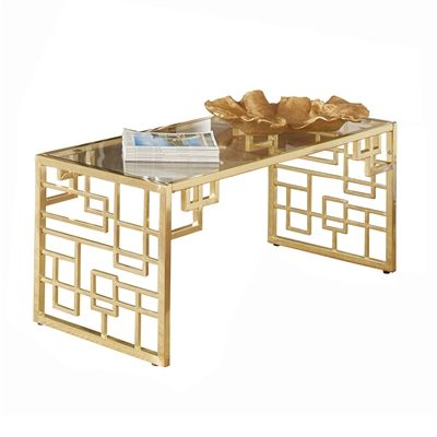 Coaster Fine Furniture 720928 Donny Osmond Home Florence Geometric Coffee Table