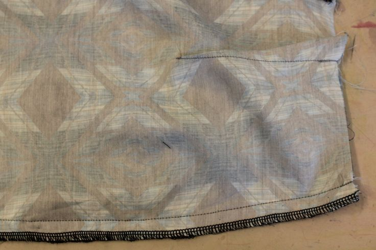side seams have been sewn.