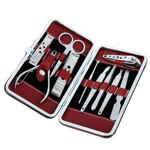 cool Stainless Steel Manicure Pedicure Ear pick Nail-Clippers Set 10 in 1