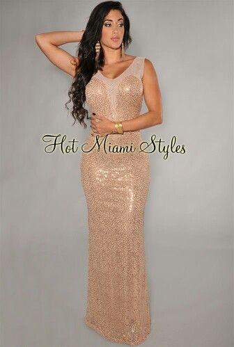Beige glitter classy long dress