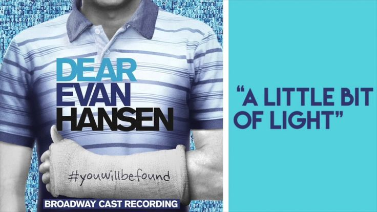 "Cut song from the Dear Evan Hansen soundtrack ""A Little Bit Of Light""(lyrics in the description) - YouTube"